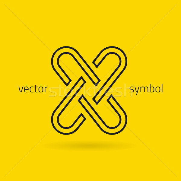 Vector graphic creative line alphabet symbol / Letter X Stock photo © feabornset