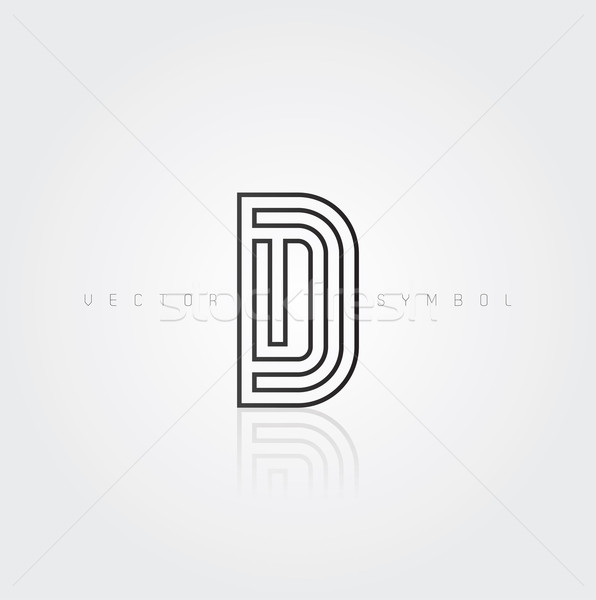 Vector graphic elegant and creative line alphabet / Letter D Stock photo © feabornset