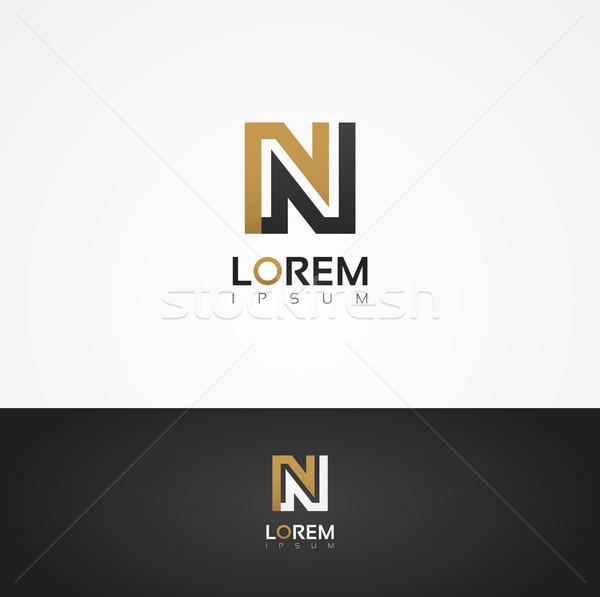 Elegant vector graphic alphabet / letter N Stock photo © feabornset
