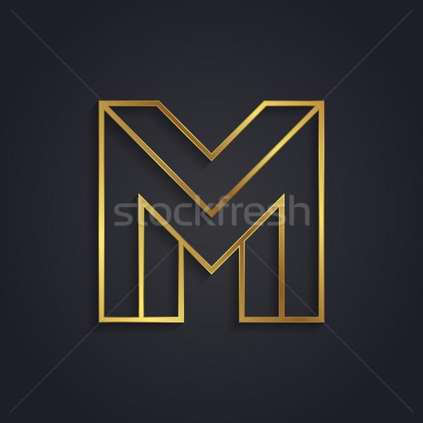 Vector grafische goud alfabet onmogelijk brief Stockfoto © feabornset