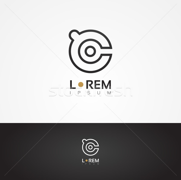 Vector graphic decorative design alphabet / letter  Stock photo © feabornset