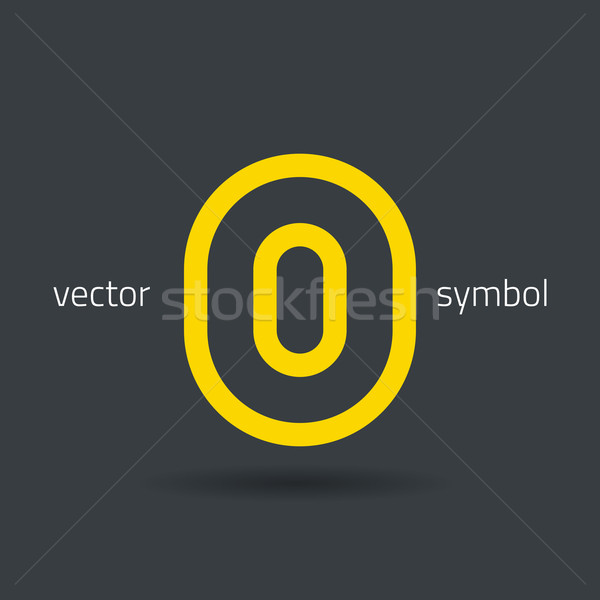 Vector graphic creative line alphabet symbol / Letter O Stock photo © feabornset