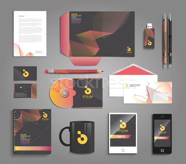 ベクトル グラフィック プロ アイデンティティ デザイン 会社 ストックフォト © feabornset