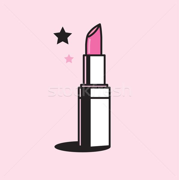 Vector gráfico ilustración brillante rosa Foto stock © feabornset