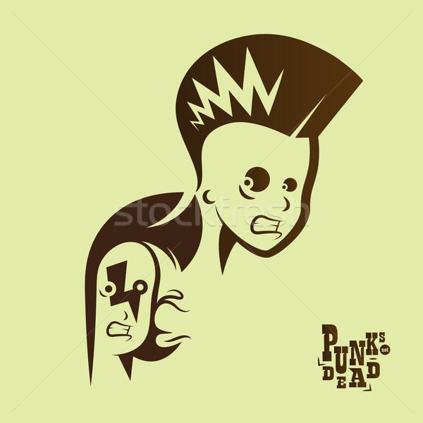 Vector gráfico ilustración punk ninos signo Foto stock © feabornset