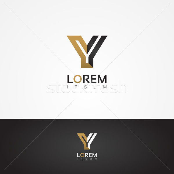 Elegant vector graphic alphabet / letter Y Stock photo © feabornset
