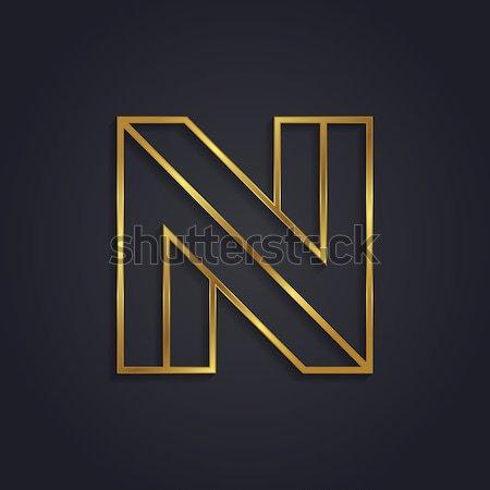 вектора графических золото алфавит невозможное письме Сток-фото © feabornset