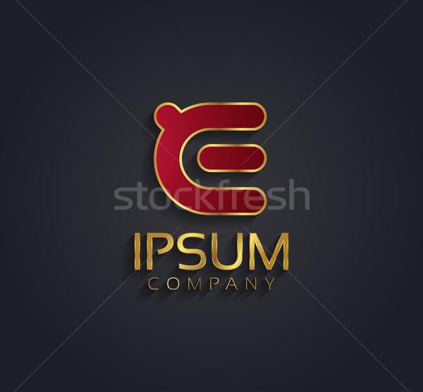 Vetor gráfico alfabeto símbolo ouro Foto stock © feabornset