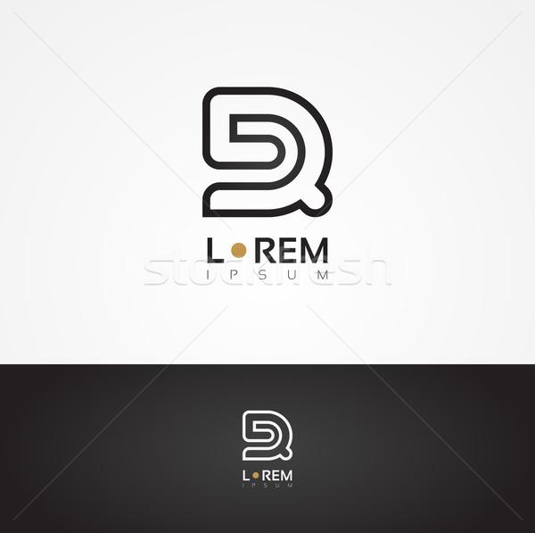 Vector graphic decorative design alphabet / letter R Stock photo © feabornset