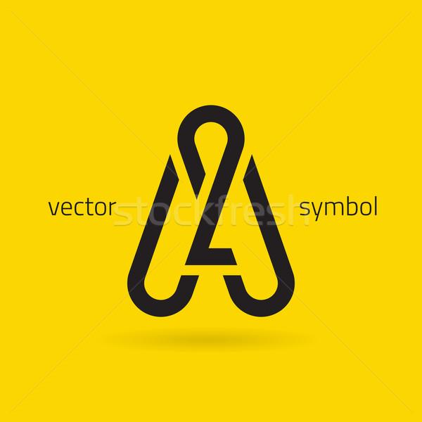 Vector graphic creative line alphabet symbol / Letter A Stock photo © feabornset