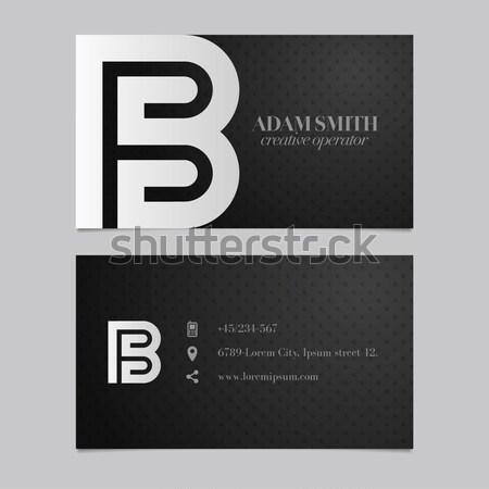 Moderno vetor gráfico cartão de visita alfabeto símbolo Foto stock © feabornset