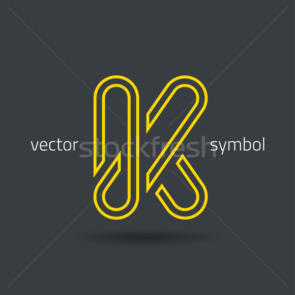Vector graphic creative line alphabet symbol  K Stock photo © feabornset