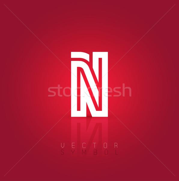 Vector graphic creative line alphabet symbol / Letter N Stock photo © feabornset