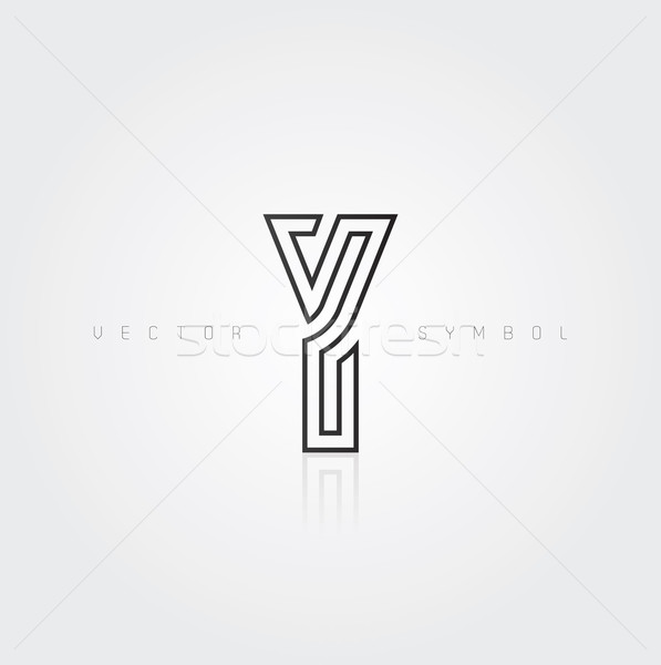 Vector graphic elegant and creative line alphabet / Letter Y Stock photo © feabornset