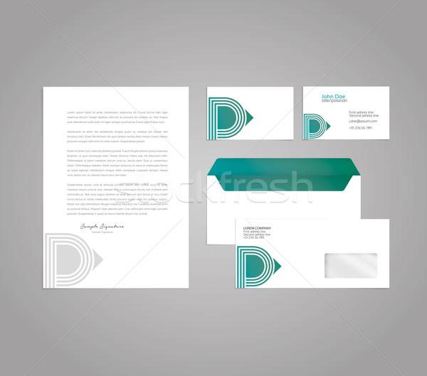 Classic and professional stationery template design for your com Stock photo © feabornset