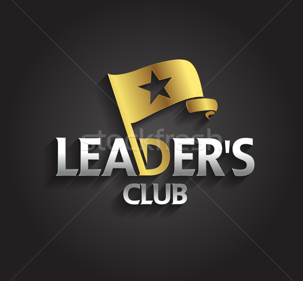 Vector graphic silver and gold symbol for company leaders with f Stock photo © feabornset