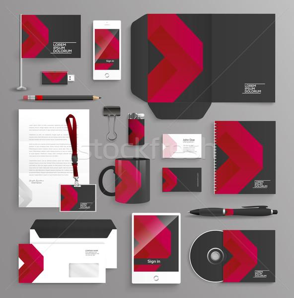 プロ 文房具 テンプレート デザイン 企業 ストックフォト © feabornset