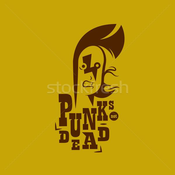 вектора графических иллюстрация панк Kid знак Сток-фото © feabornset