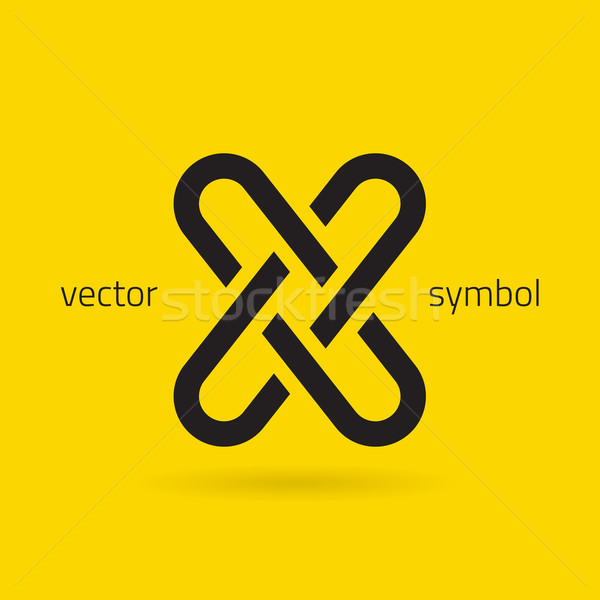 Stock photo: Vector graphic creative line alphabet symbol / Letter X
