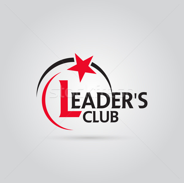 Vector grafische Rood zwarte symbool bedrijf Stockfoto © feabornset