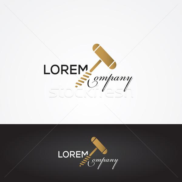 Vektor grafikus ezüst arany borászat felirat Stock fotó © feabornset