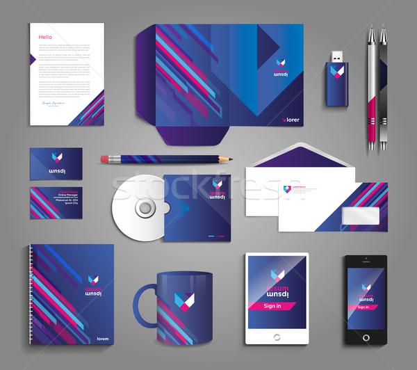 вектора графических профессиональных личности дизайна компания Сток-фото © feabornset