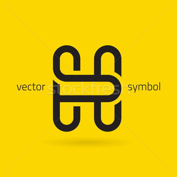 Vector graphic creative line alphabet symbol / Letter H Stock photo © feabornset