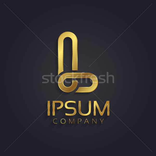 Beautiful vector graphic gold alphabet / letter L Stock photo © feabornset