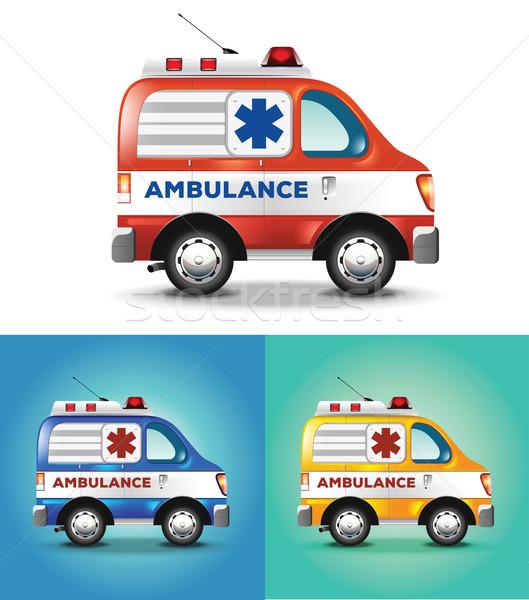 вектора графических иллюстрация скорой автомобилей синий Сток-фото © feabornset