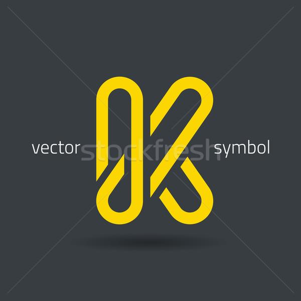 Vector graphic creative line alphabet symbol / Letter K Stock photo © feabornset