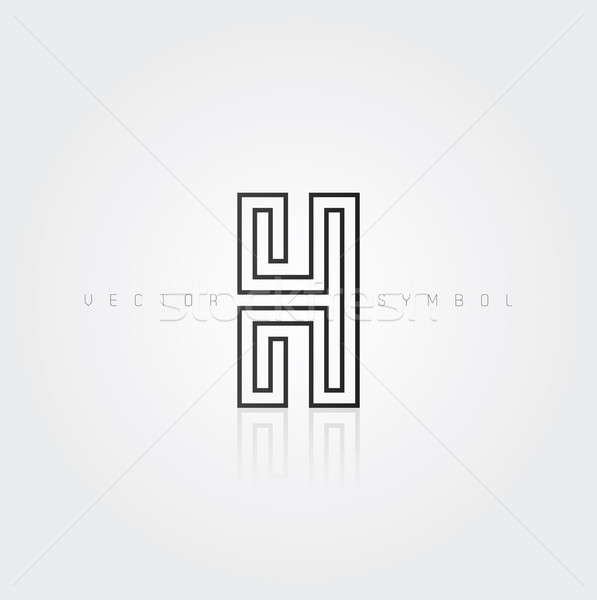 Vector graphic elegant and creative line alphabet / Letter H Stock photo © feabornset