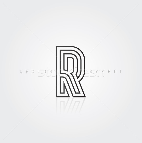 Vector graphic elegant and creative line alphabet / Letter R Stock photo © feabornset