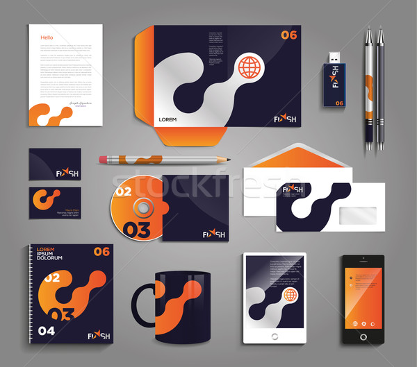 Vector graphic professional identity design for your company in  Stock photo © feabornset