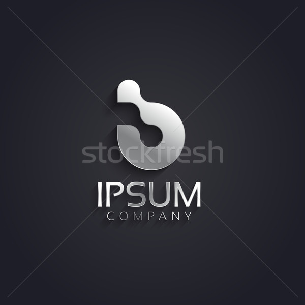 вектора графических серебро письме символ образец Сток-фото © feabornset
