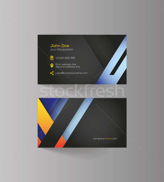 Elegant vector graphic business card with sample text vector add to lightbox download comp reheart Image collections