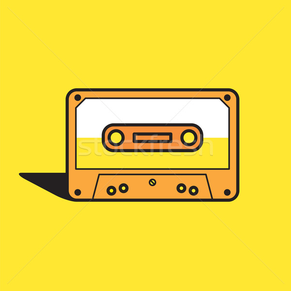 Vector graphic illustration of a cassette tape in vibrant color Stock photo © feabornset