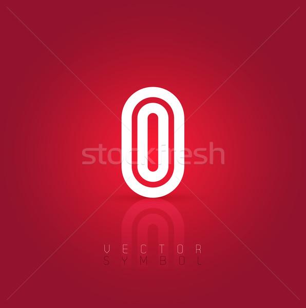 Vector graphic creative line alphabet symbol / Letter O Stock photo © feabornset
