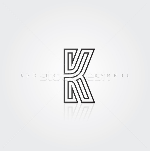 Stock photo: Vector graphic elegant and creative line alphabet / Letter K