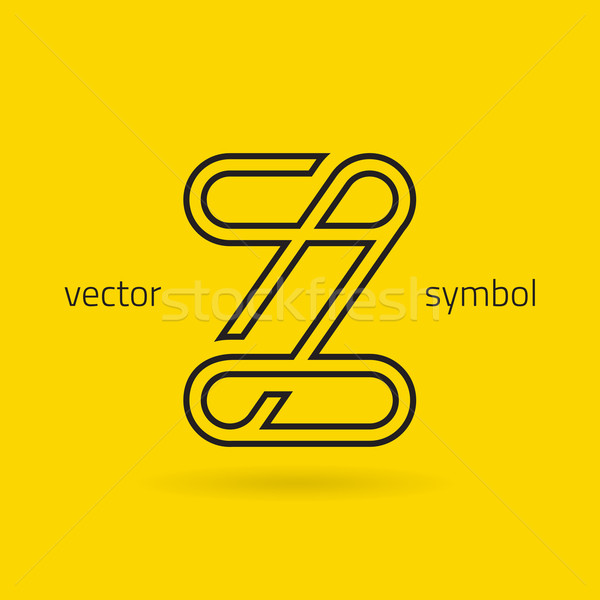 Vector graphic creative line alphabet symbol / Letter Z Stock photo © feabornset