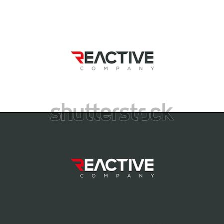 Vector graphic Reactive typography symbol for you company in pos Stock photo © feabornset