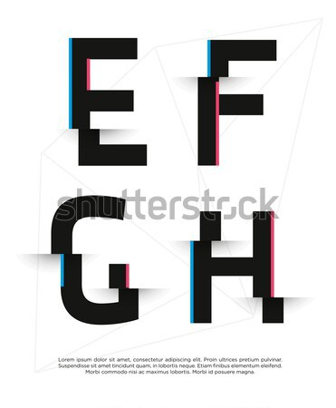 Vector graphic alphabet in a set. Contains vibrant colors and mi Stock photo © feabornset