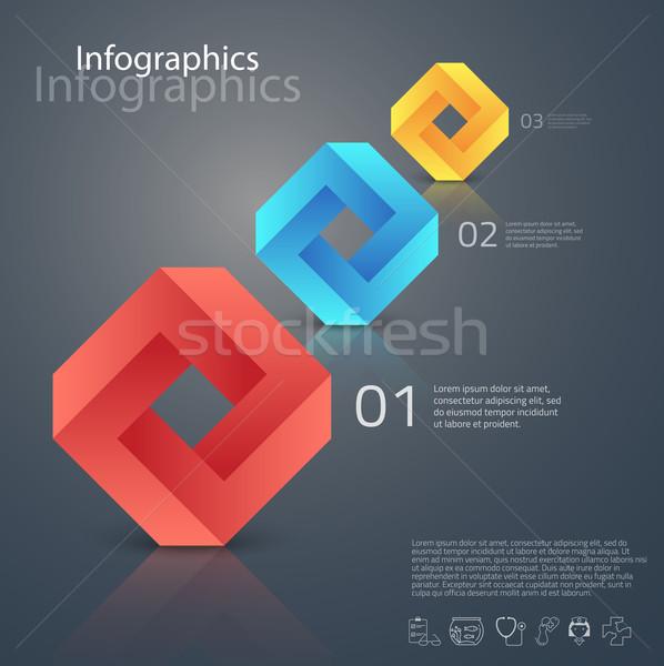 Wektora graficzne streszczenie infografiki geometryczny elementy Zdjęcia stock © feabornset