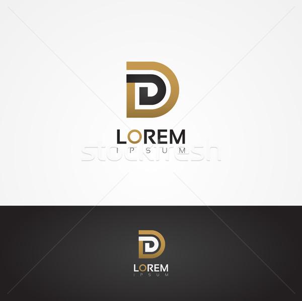 Elegante vector grafische alfabet letter d Stockfoto © feabornset