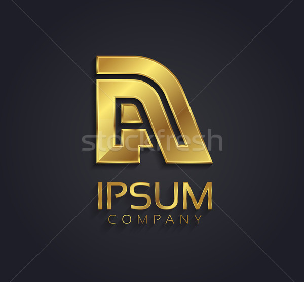 Beautiful vector graphic gold alphabet / letter A / symbol Stock photo © feabornset