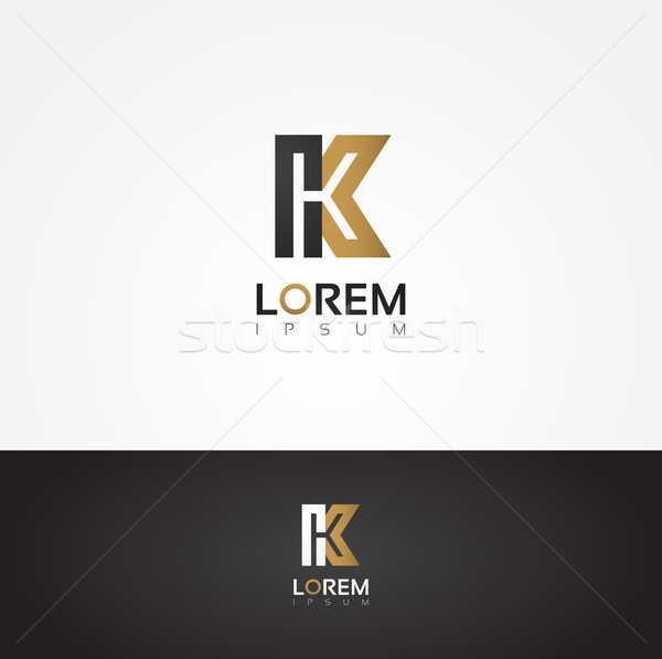 Elegant vector graphic alphabet / letter K Stock photo © feabornset