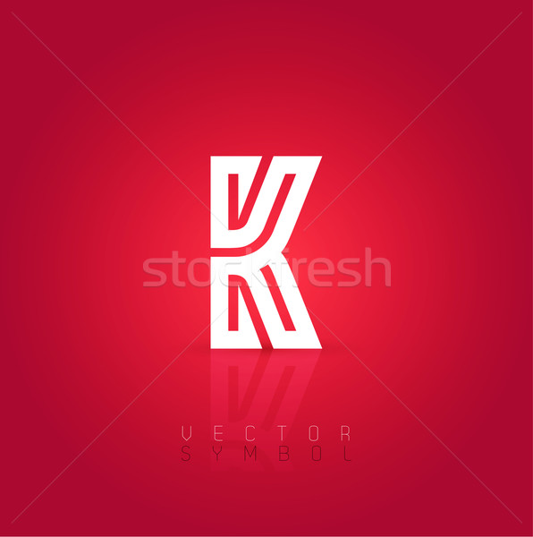 Vector Graphic Creative Line Alphabet Symbol Letter K Vector