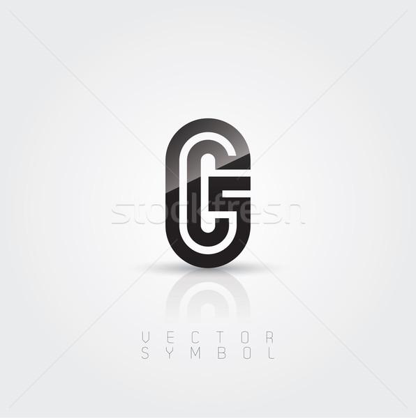 Vetor gráfico elegante criador linha alfabeto Foto stock © feabornset