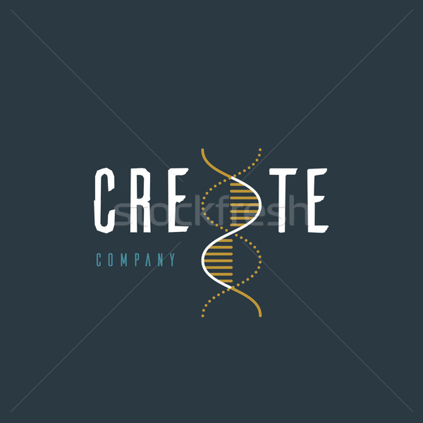 Vector graphic illustration of a DNA symbol with sample text for Stock photo © feabornset