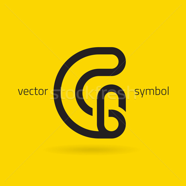 Vector graphic creative line alphabet symbol / Letter G Stock photo © feabornset