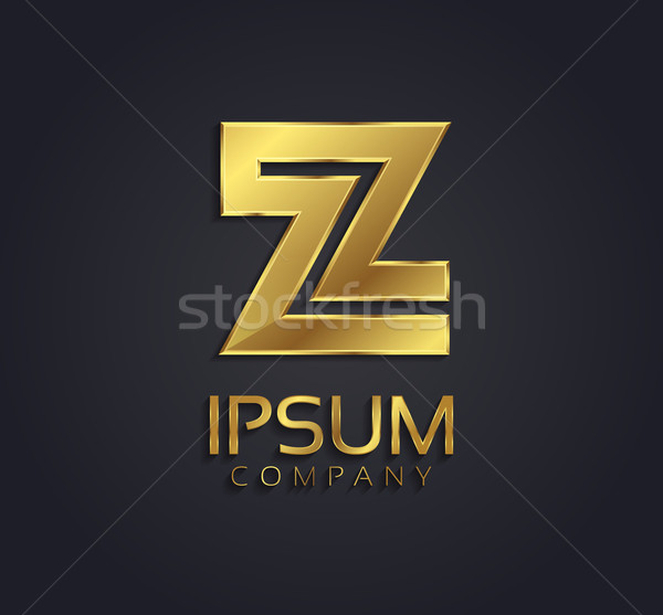 Beautiful vector graphic gold alphabet / letter Z / symbol Stock photo © feabornset